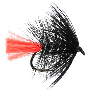 Black Zulu Hackled Wet Fly