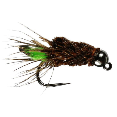 Peeping Caddis Tungsten Bead Barbless (Size 10)