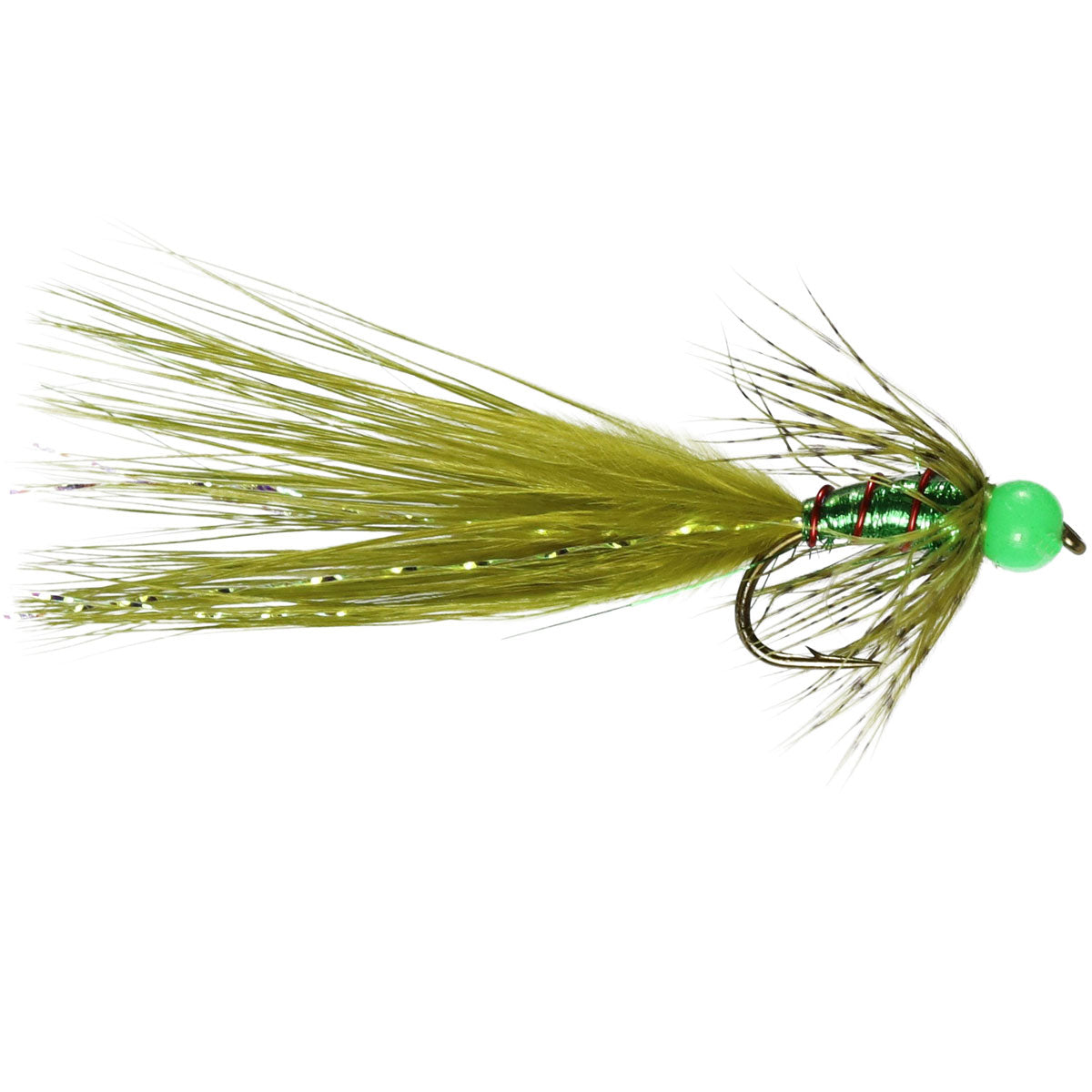 Mirage Green Beaded Damsel Lure (Size 10)