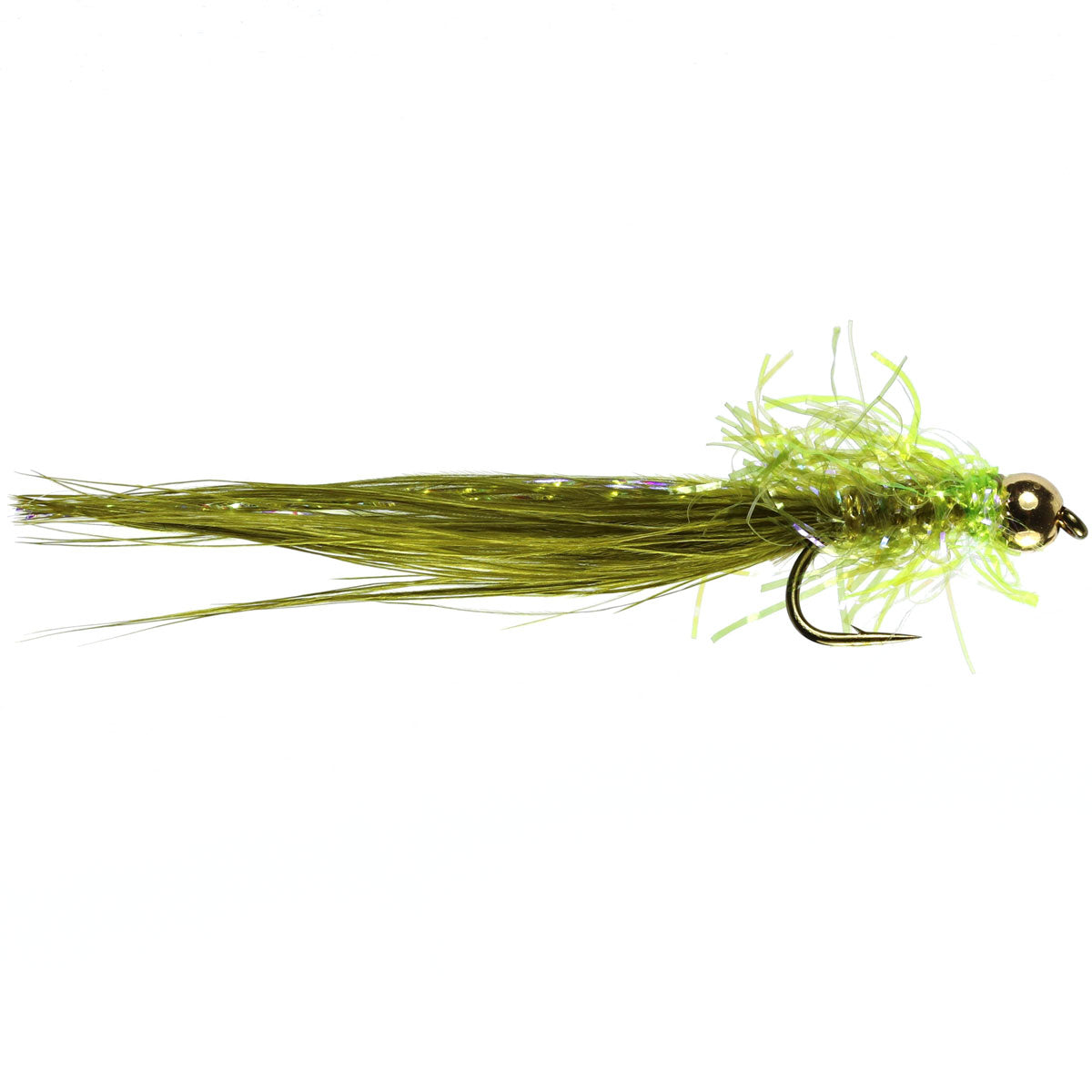 G/B Olive Damsel Lure (Size 10)