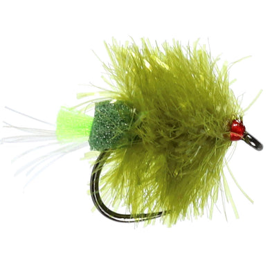 FAB UV Olive Blob Barbless (Size 10)