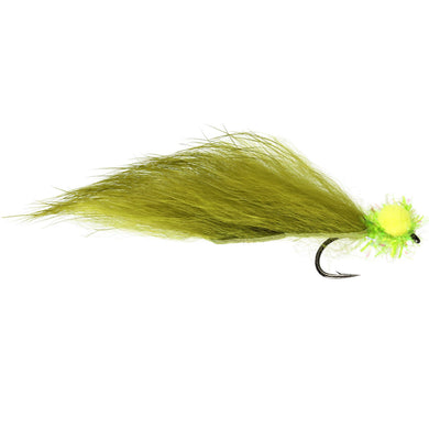 Olive Fry Zonker Booby (Size 10) (Special Order - 1/2 Doz)
