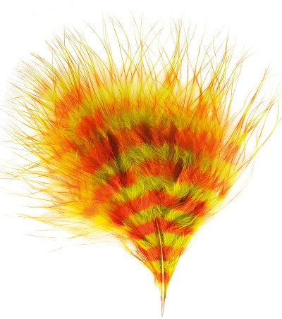 Turkey Marabou Barred Feather Dyed