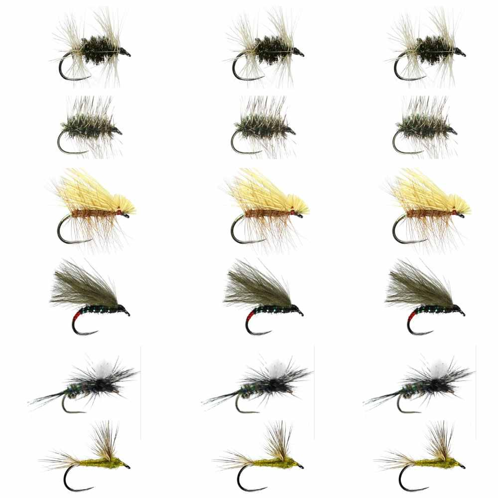 Derbyshire Derwent Fly Selection Box 1 - Small Dries