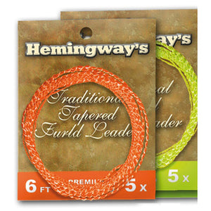 Hemingways Hi-Visible Fluo Orange 4x Furled Leader