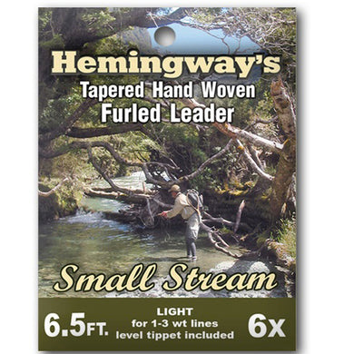Hemingways Small Stream 6x Furled Leader