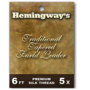 Hemingways Traditional Tapered 5x Furled Leader