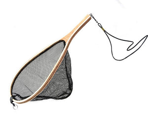 Cortland Wooden Trout Net Black Mesh