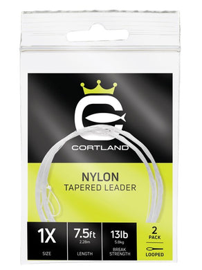 9 Foot Cortland Nylon Tapered Leader (2 Pack)
