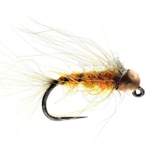 Amber CDC tungsten nymph Barbless