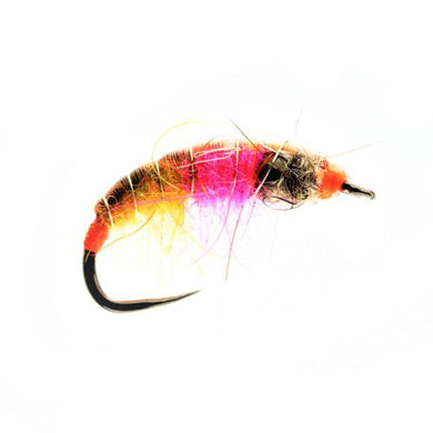 Amber Flame Tungsten Czech Nymph Barbless