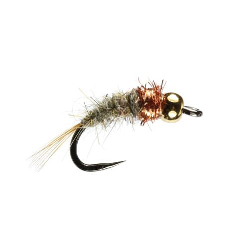 Back Eddy Hares Ear Tungsten Nymph Barbless (Size 14)