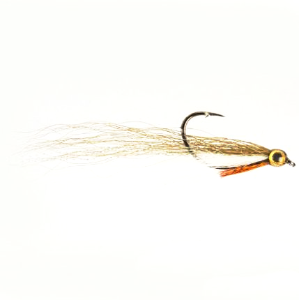 Drop shot minnow olive and white