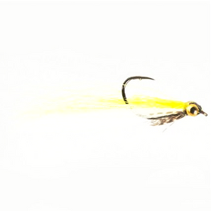 Drop shot minnow yellow and white