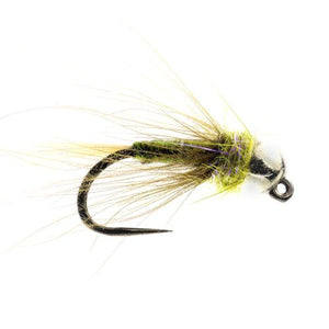 Grayling Jig Olive CDC Tungsten Barbless