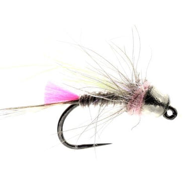 Grayling Jig Pink CDC Tungsten Barbless