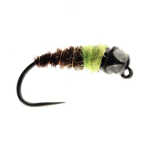 Green Bomb Tungsten Bead Nymph Barbless