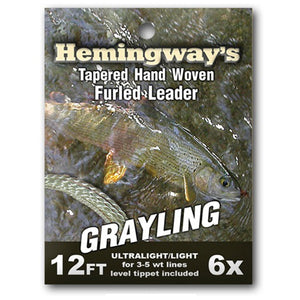Hemingways Grayling 6x Furled Leader