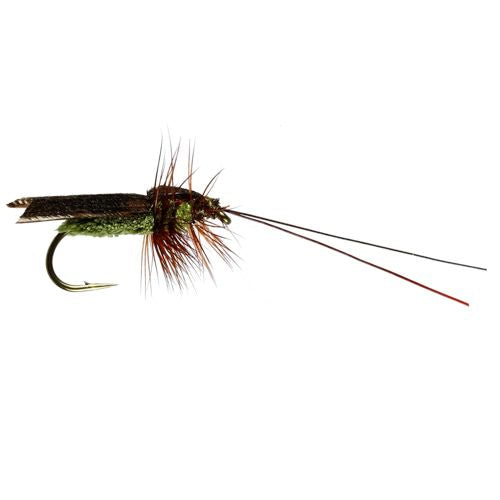Micro Caddis Olive Barbless (size 14)