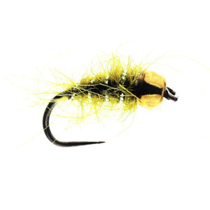 Olive Hares Ear Tungsten Nymph Barbless (Size 14)