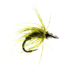 Olive Pupa Tungsten Bead Barbless