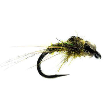 Olive Quill Barbless  (Size 14)