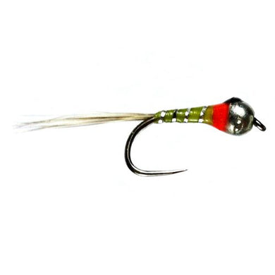 Perdigon Nymph - Light Olive Barbless Size 16