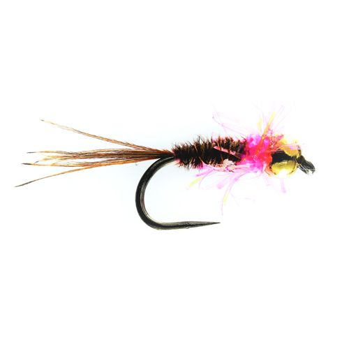 Pink Rapid Pheasant Tail Tungsten Nymph Barbless (Size 14)