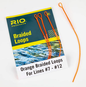 Rio Orange Braided Loops Fits Lines #3 - #6