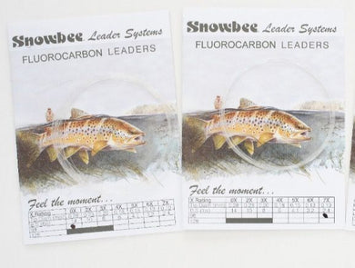 Snowbee Tapered Fluorocarbon Leader 9ft