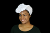 Short White Headwrap - Krown Worthy
