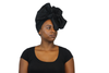 Long Black Headwrap - Krown Worthy