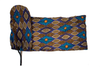 Long Blue Wax Print Headwrap - Krown Worthy