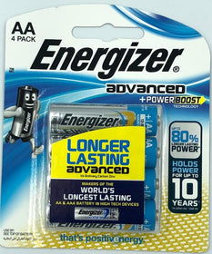 Energizer Advance 1.5V AA (4 pack)