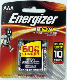 Energizer Max AAA 4Pack