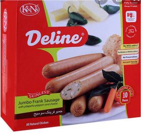 Deline JF Sausage Jalapeño Pepper &Cheese 8 pc