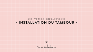 Installation du tambour à broder - Setting the embroidery hoop - Rose Céladon