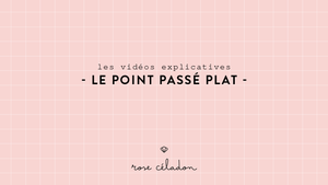 Le point passé plat en broderie - The satin embroidery stitch - Rose Céladon