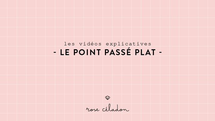 Le point passé plat - Satin stitch