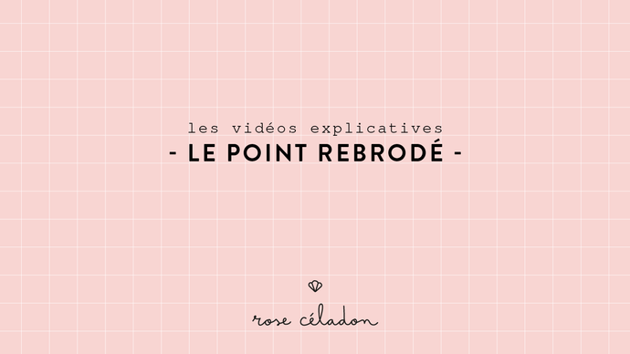 Le point rebrodé - Rollover stitch
