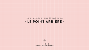 Le point arrière en broderie - Back stitch embroidery - Rose Céladon