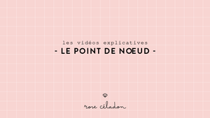 le point de noeud en broderie - knot stitch embroidery - rose céladon