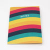A6 Notebook - 5 Colour Wave Pattern - Cover