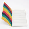 A6 Notebook - 5 Colour Wave Pattern - Inside Cover