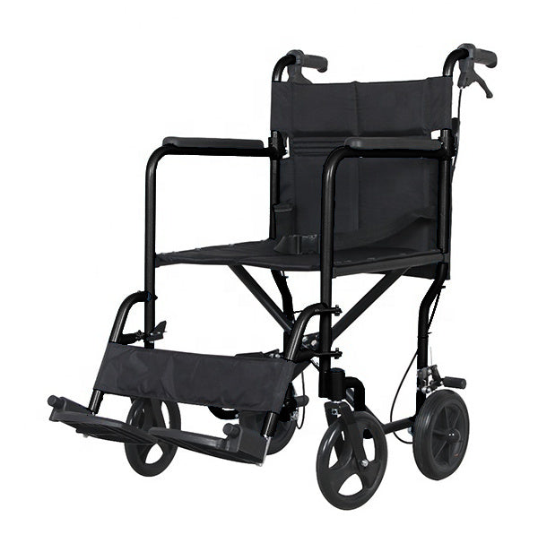 Senick Aluminum Transport Chair (8 Inch Wheels)