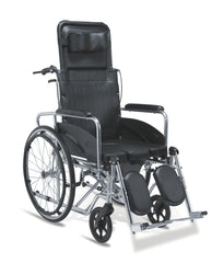 Senick Reclining Commode Wheelchair