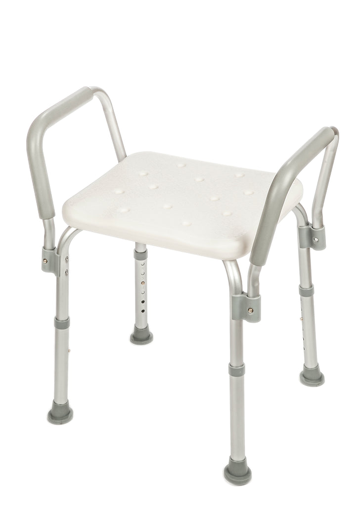 Senick Shower Bench with Padded Armrests