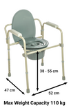 Senick Folding Steel Commode