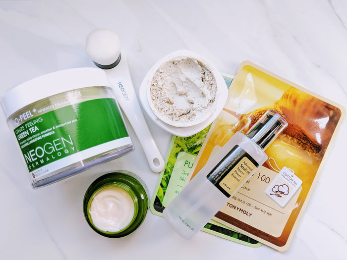 Paeonia Skin Lab, neogen, cosrx, clay mask, Tony moly mask sheet, green tea face cream, moisturizing, natural beauty, skin care