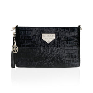 Hamrað svart hliðarveski / Embossed black purse